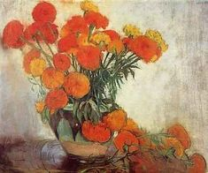 Orange Flowers, Artwork, Artist, Painting, Kunst, Work Of Art, Auguste Rodin Artwork, Artists, Painting Art