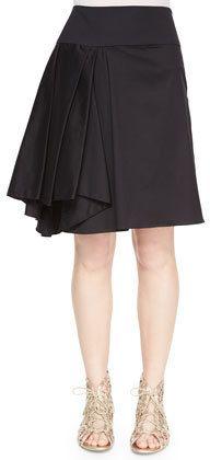 Milly Asymmetric Pleated Midi Skirt  Price : 285.00$