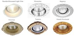 """Decorative recessed light trims fits 6"""" and 6-3/4"""" recessed light canisters. Great historic carvings create our masters. Come in 14 finishes. Best trim."""