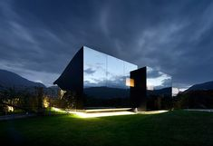 mirror houses by peter pichler reflect the mountains of northern italy