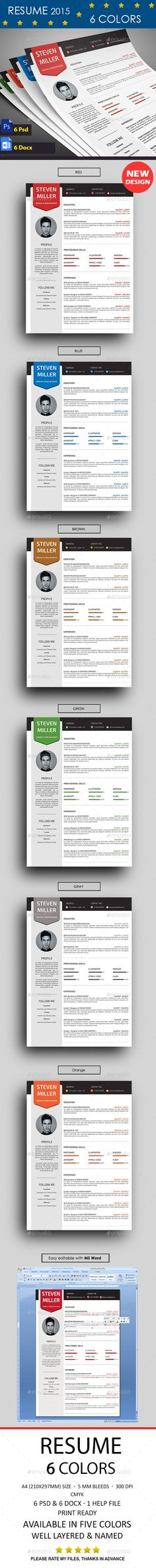 Resume Template #design Download: http://graphicriver.net/item/resume/11529239?ref=ksioks
