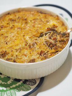 Kodin Kuvalehti – Blogit | Nelliina – Mehevä spagettivuoka - laita lisää sitä juustoa I Love Food, A Food, Good Food, Food And Drink, Yummy Food, Wine Recipes, Cooking Recipes, Healthy Recipes, Pasta
