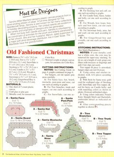 Old Fashioned Christmas Ornaments Pg 2/4