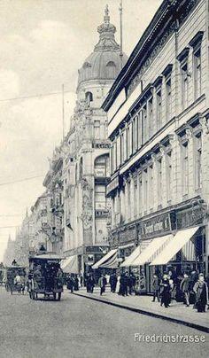 Friedrichstrasse Ecke Kronenstrasse vor 1900