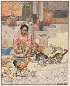 Pagina met informatie over de indische boekjes met illustraties van Cornelis Jetses. Indonesian Art, Old Commercials, Dutch East Indies, Javanese, Old Paintings, Anime Scenery, Historical Pictures, Botanical Prints, Vintage Posters