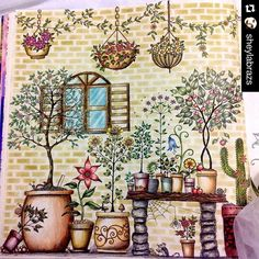Inspirational coloring pages Johanna Basford Jardin Secret, Colouring Pages, Coloring Books, Adult Coloring, Secret Garden Book, Graffiti, Secret Garden Coloring Book, Johanna Basford Coloring Book, Colouring Techniques