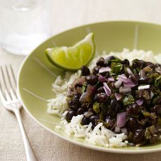 Cuban black beans & rice, weight watchers recipe-THESE ARE SOOO GOOD. I HAVE THEM WITH BROWN RICE.