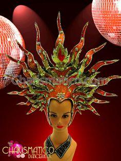 Charismatico Dancewear Store - CHARISMATICO Gold, Orange, and Red Sun Goddess Themed Star Burst Headdress, $185.00 (http://www.charismatico-dancewear.com/charismatico-gold-orange-and-red-sun-goddess-themed-star-burst-headdress/)