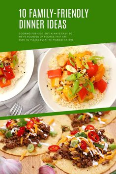 All of these yummy ideas are great options to make for the whole family! We promise you're kids will love them just as much as you will! Dinner Options, Dinner Ideas, Kid Friendly Dinner, Cooking With Kids, Picky Eaters, Domestic Geek, Friends Family, Healthy Dinner Recipes, Meal Planning