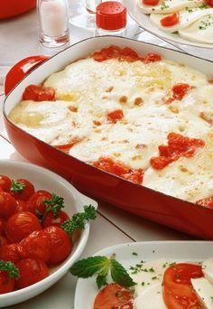 tomato mozzarella au gratin