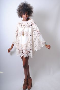 So Boho chic sexy. http://www.etsy.com/listing/117370808/boho-bell-sleeve-70s-dress-style-ivory