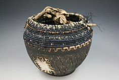 Gathered Basket- Country Squire Pottery