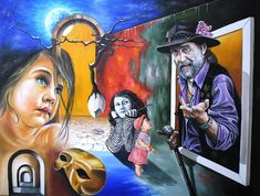 """""""A Gipsy Tale"""" One of my favourite!!! Oil on canvas. Mihai Adrian Raceanu, Painter from Romania #art #painter #painting #surrealism"""