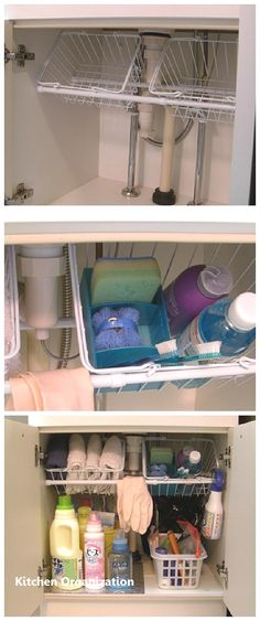 12 Amazing Kitchen Sink Organization Ideas Having a clean and organized kitchen eases your tasks much better than a cluttered one. These are my 12 amazing kitchen sink organization ideas to help you! Bathroom Organization, Bathroom Storage, Small Bathroom, Organization Ideas, Organizing Tips, Bathroom Ideas, Bathroom Cabinets, Kitchen Cabinets, Bedroom Small