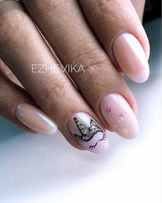 Many people have a passion for unicorn nails. And Unicorn nails are becoming a unique trend. If you think you have a different opinion, you should take a closer look at this list of Unicorn nail designs right away. We are convinced that even those w Trendy Nail Art, Cute Nail Art, Cute Nails, Unicorn Nails Designs, Unicorn Nail Art, Manicure Nail Designs, Nail Manicure, Nail Polish, Manicure Ideas