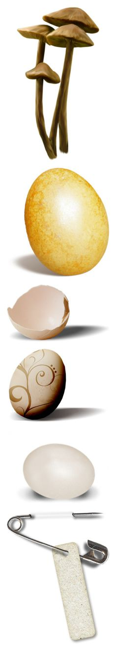 """""""Props"""" by jdee77 ❤ liked on Polyvore featuring fillers, mushrooms, plants, nature, decorations, easter, egg, backgrounds, pääsiäinen and props"""