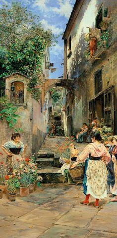 José Gallegos y Arnosa. Rumores, 1893. Colección Carmen Thyssen-Bornemisza en préstamo gratuito al Museo Carmen Thyssen Málaga
