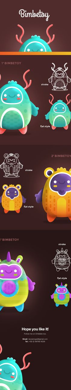 Bimbetoys - Character design on Behance