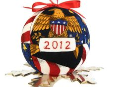Quilted Patriotic Ornament Kimekomi Style Gift for by craftcrazy4u, $12.00