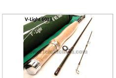V-Light 6013 6-ft 3-piece 1-wt. 30T SK Carbon Fly Rod