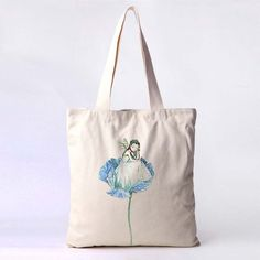 CANVAS ECO NATURAL COTTON SHOPPER SHOULDER TOTE BAGS --flower girl