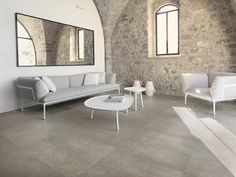 Living room grey walls rustic exposed brick 16 new ideas Living Room Tiles, Stone Walls Interior, Stone Interior, Stone Wall Design, Living Room Flooring, Rustic Living Room Design, Living Room Grey, Interior Design, Living Design