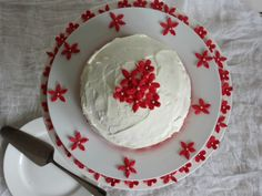 Red Velvet Cake with Whipped White Chocolate Frosting
