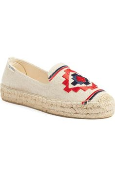 Soludos Embroidered Espadrille (Women) available at #Nordstrom