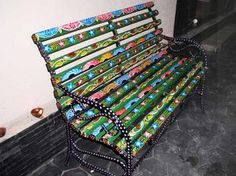 Painted Benches Ideas | Pic(k) of the Day: A painted bench