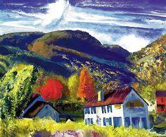 My House, Woodstock - George Wesley Bellows 1924