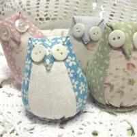Little Owl Pincushion Template