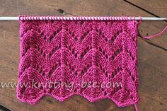 Free Horseshoe Lace knitting stitch pattern. A gorgeous lace that originates from the Shetland Islands in the nineteenth century, when gossamer lace was in fashion. Abbreviations: k= knit p= purl yo = yarn over sl = slip a stitch without working it from the left needle to the right one psso = pass the slipped…