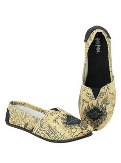 Harry Potter Marauder S Map Slip On Shoes