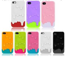 New Melt ice-Cream Hard Case Skin Cover for iPhone 4 Cool Cases, Cute Phone Cases, Iphone Cases, Iphone Phone, Samsung Cases, Diy Lace Phone Case, Capas Para Iphone 4s, Phone Covers, Plastic Case