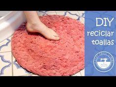Alfombra de baño con toallas recicladas - YouTube