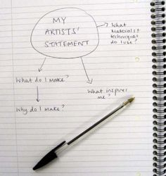 """""""How to Write an Artist's Statement"""" by Abigail Branagan explains the value and importance of an artist's statement. Frequently a part of any grant request or competition or exhibition application, it is also invaluable as a part of your marketing."""