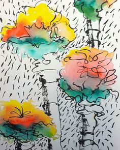 Watercolors: Drips and Spills - Art Is...You - Your Mixed Media Art Retreats