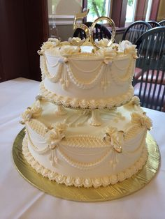 Classic and traditional. Cake by Beaverton Bakery.