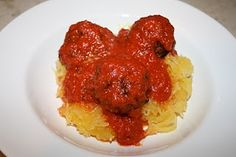 Paleo Table | Paleo Recipes, meal plans, and shopping lists: Spaghetti Squash and Meatballs