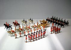 Britains Toy Soldiers / Coronation Parade Set 1477 / Queen Elizabeth Diamond Jubilee / Great Britain / 75 Pieces. $4,500.00, via Etsy.