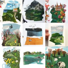 Paper Collage Art, Painting Collage, Paper Art, Collage Landscape, Collage Techniques, Collage Illustration, Elementary Art, Watercolor Art, Art Projects