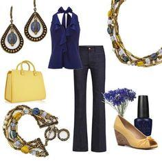 Global set, earrings, necklace, bracelet - I love this look!