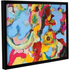 ArtWall Allan Friedlander Gathering Season Gallery-wrapped Floater-framed Canvas, Size: 36 x 48, Red