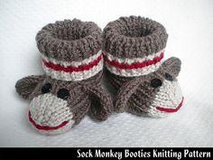 Ravelry: Sock Monkey Booties pattern by Janet Jameson