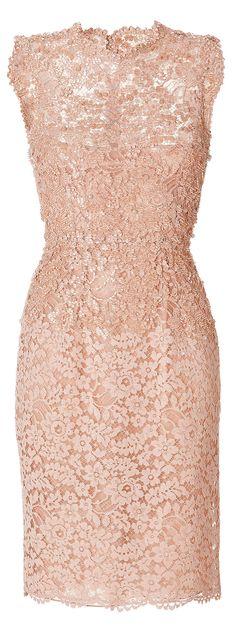Valentino Pink Beaded Lace Dress
