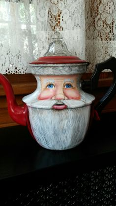 Santa coffee pot.