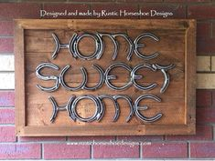 Unique Horseshoe Art and Home Decor Horseshoe Letters, Horseshoe Projects, Horseshoe Crafts, Horseshoe Art, Welding Crafts, Diy Welding, Metal Welding, Welding Projects, Diy Projects