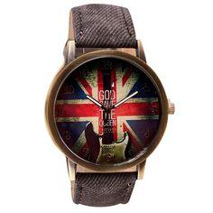 af0afac70572 Fashion Colorful British Flag Colored Watch