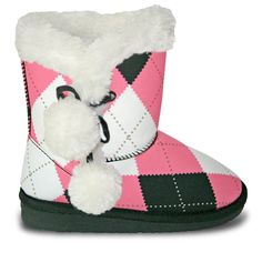 Toddlers' Loudmouth Side Tie Boots - Pink and Black