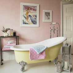 pale pink bathroom accessories. I don t think Im brave enough to actually paint my walls pink but  Pink Bathroom AccessoriesVintage 20 Bathrooms We Wouldn Mind Sitting Around In colors